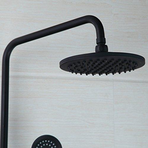 free shipping SAEKJJ-Retro black copper dual-outlet wall mounted bathtub shower mixer shower set Bathroom faucet
