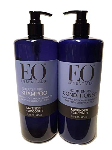 EO Essentials Lavender & Coconut Shampoo and Conditioner Set 32 FL OZ
