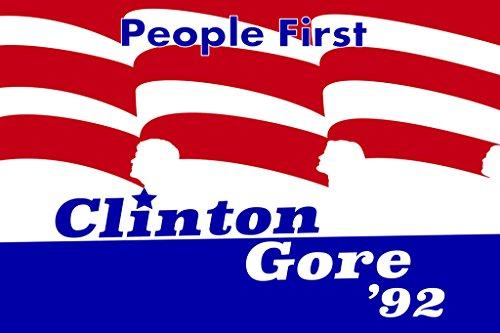 Bill Clinton Al Gore 1992 Campaign Poster