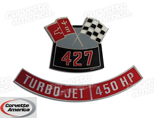 Chevy 427/450 HP Air Cleaner Decal