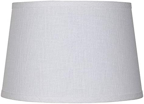 Upgradelights White Linen 16 Inch Drum Lampshade Replacement
