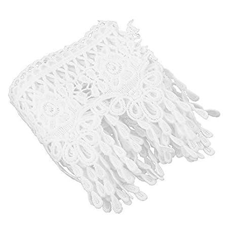 Amazon.com: DealMux Polyester Handmade costura Artesanato Roupa saia Decor guarnição 11 centímetros Largura Branco