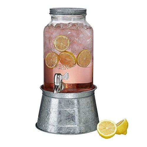 Artland 10400 Mason ware Beverage Server On On Metal Stand, 1.5 gallon, 1.5 gallon (Vintage Lemonade)