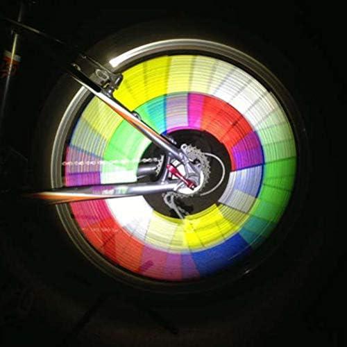 Deeabo 12 St/ücke 75mm Fahrrad Rad Reflektierende Aufkleber Wei/ß DIY Felge Reflektor Mountainbike Nacht Warnung Reflektierende Stick Sprach Reflektoren Stick F/ür Motorrad Mountainbike Zubeh/ör