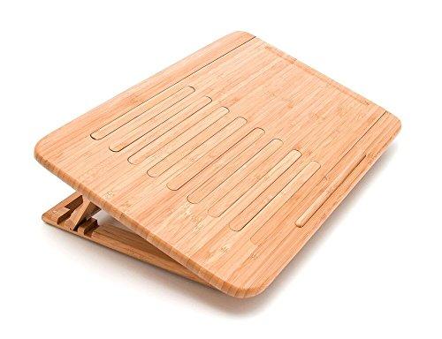 Lipper International 1888 Bamboo Wood Expandable Laptop Stand, Slatted by Lipper International (Image #3)
