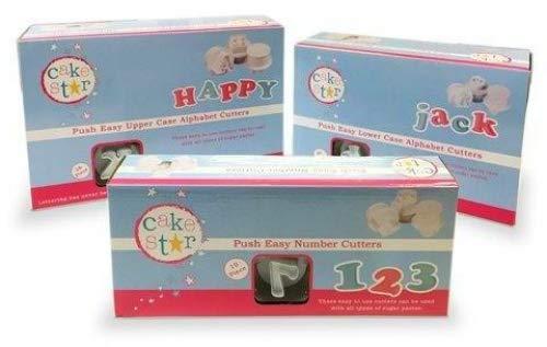 Cake Star Push Easy Upper & Lower Case Alphabet & Number Plunger Cutters by Cake Star Push Easy Plunger - Plungers For Cakes