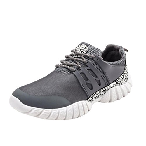 beautyjourney Scarpe Running estive Uomo Scarpe Uomo Sneakers Scarpe da Ginnastica Uomo Scarpe da Corsa Uomo Sportive Scarpe da Lavoro - Uomo Cross Scarpe Ginnastica Scarpe Grigio