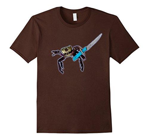mens-premium-gangster-crab-funny-t-shirt-large-brown