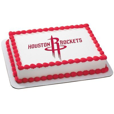 Amazon Houston Rockets Licensed Edible Cake Topper 3679 Kitchen Dining