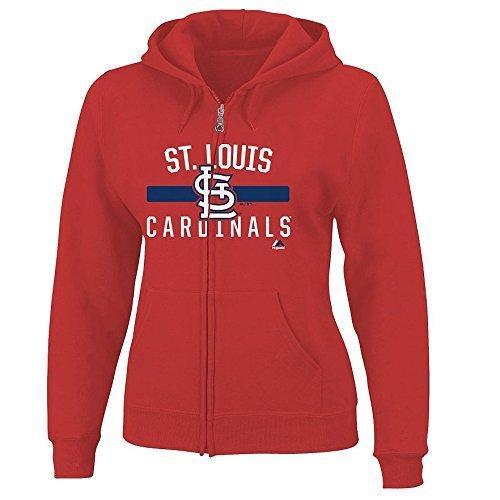 St Louis Cardinals Jackets (Women's Plus Majestic MLB Fleece Zip Up Hoodie (Plus 4X, St Louis Cardinals))