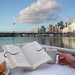 Gimble Leisure Read Page Book Holder for Paperbacks and Hardbacks (Gray)
