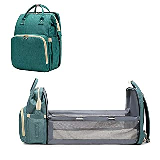 Baby Backpack Convertible Lightweight Baby Diaper Bag Bed Portable Baby Changing Mat Foldable Travel Bassinet, Playpen