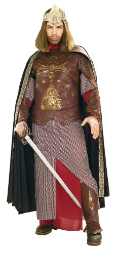 Rubie's Men's The Lord Of The Rings Deluxe Aragorn King Gondor Costume, As Shown, Standard