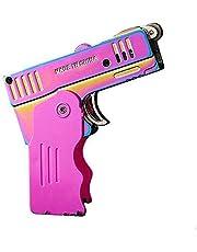 Zaklampjes, winddichte butaan brandstofaansteker, twee vlammodus butaanaansteker, lichter pistool verstelbare vlam butaan opblaasbare sigarettenaansteker, navulbare aanstekers, koele opvouwbare aanstekers (roze)