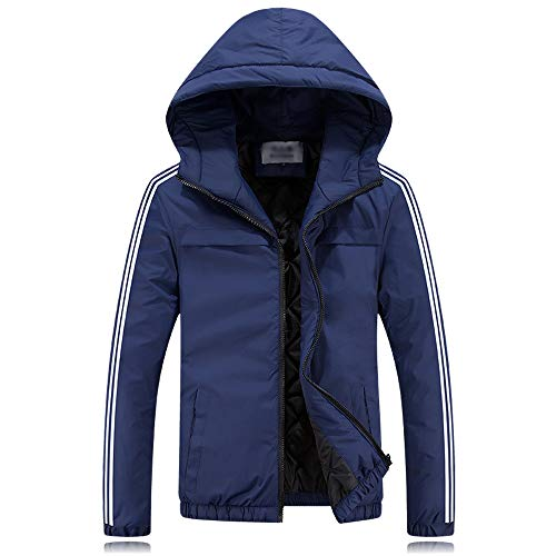 Giacche Per Uomo Esterno Bozevon Cappotto Cotone Blu In Scuro Da Casual Antivento Invernali xZSIH1wqf