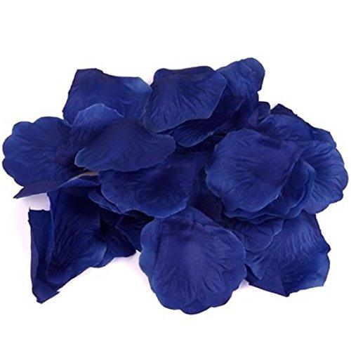 Dealzip Inc® Royal Blue 200Pcs Artificial Silk Rose - Solid Blue Invitations