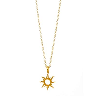 d135488cf1009f Amazon.com: JOYID Fashion Sun Pendant Necklace with Meaning Card Good Vibes  Only Color Protection Simple Luck Necklace Jewelry for Women Girls-Gold:  Jewelry