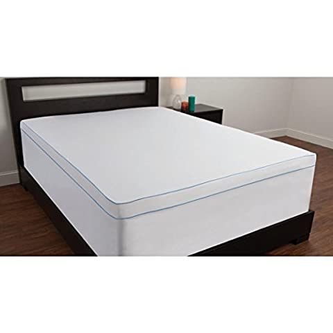 Comfort Revolution Mattress Topper Cover with Stretch Skirt, Twin Extra Long - Cover Only Not A Mattress Topper