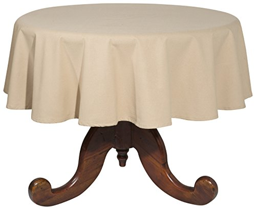 Now Designs 60-Inch Round Spectrum Tablecloth, Light Taupe ()