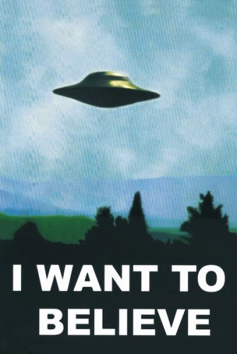 The X-Files - TV Show Poster (UFO - I Want To Believe) (Size: 24