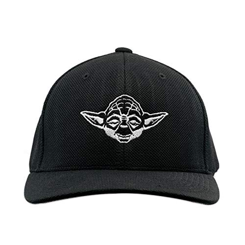 Yoda Flexfit Adult Cool & Dry Piqué Mesh Cap Hat - [Black]