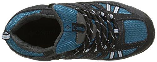 Columbia YOUTH PISGAH PEAK MID WATERPROOF - botas de senderismo de piel Niños^Niñas Azul (Dark Compass/Black 402Dark Compass/Black 402)