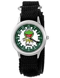 """Disney W000162""""Muppets Kermit"""" Reloj de acero inoxidable para profesor de tiempo para niños"""