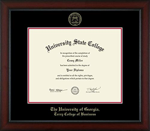 The University of Georgia Terry College of Business - Officially Licensed - Gold Embossed Diploma Frame - Diploma Size 15