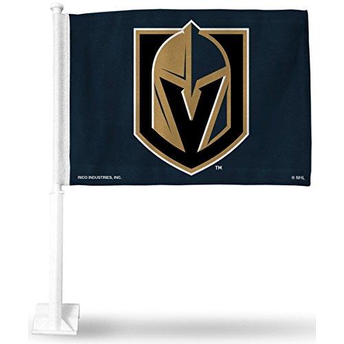2 NHL Las Vegas Golden Knights Car Flag, Black, with White Pole