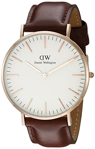 daniel wellington classic st mawes rose men 39 s quartz watch with white dial analogue display and. Black Bedroom Furniture Sets. Home Design Ideas