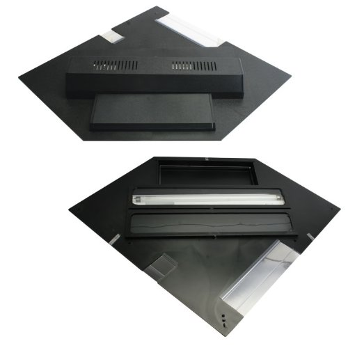 Fluorescent Full Hood Perfecto (Perfecto Manufacturing APF21502 Marineland Perfect-a-Lite Fluorescent Full Aquarium Specialty Lighting Hoods, 44-Gallon, Pentagon Black)