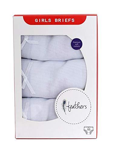86d60e793e0 Feathers Girls Solid Rib White Snug Fit Tagless Briefs Underwear - 100% Cotton  Super Soft