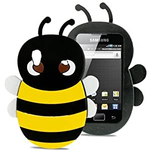 3D Bee Style Silicone Case for Samsung Galaxy Ace / S5830(Black)