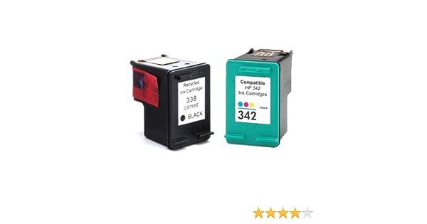 Pack Cartuchos Tinta Compatible para HP 338 XL / 342 XL/Negro y Tricolor 18/15ml T87 T89: Amazon.es: Electrónica