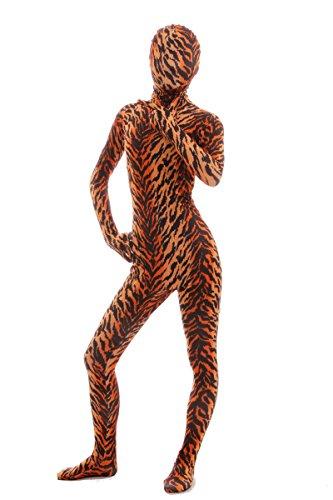 - 41YTYplNplL - Nedal Women's Tiger Costume Halloween Zentai Lycra Spandex Bodysuit Animal
