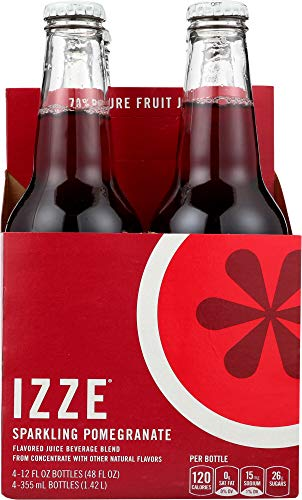 Izze (NOT A CASE) Sparkling Pomegranate Flavored Juice Beverage 4 Count