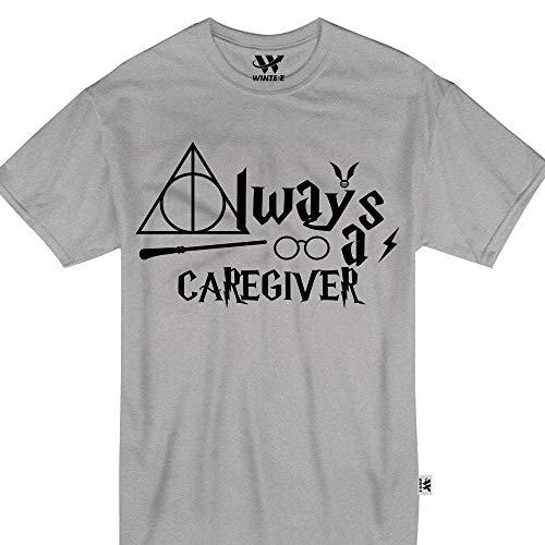 Always A Caregiver Halloween Magic Witch Wand Glasses Proud Tshirt -
