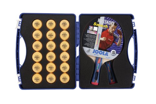 JOOLA Expert Table Tennis Tour Case with Two Rossi Smash Rackets 56734