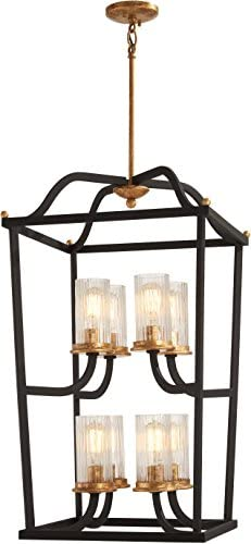 Minka Lavery Foyer Chandelier Mini Pendant Lighting 4518-100 Posh Horizon Dining Room Fixture