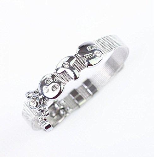 Fanstown Kpop accessories handmade titanium letter diamond heart wristband bracelet EXO Shinee BTS GOT7