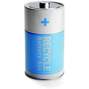 Amazon Com Recycle Battery Tin Box Used Batteries Waste