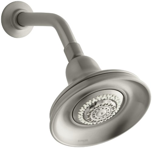 - KOHLER K-10591-BN Bancroft Multi-Function Showerhead, Vibrant Brushed Nickel