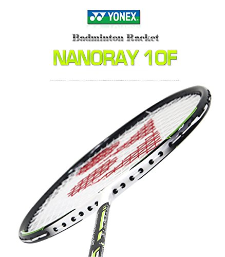Yonex NANORAY 10F NEW Badminton Racket 2017 Racquet Lime 4U/G5 Pre-strung with a Half-length Cover (NR10F-LIME)