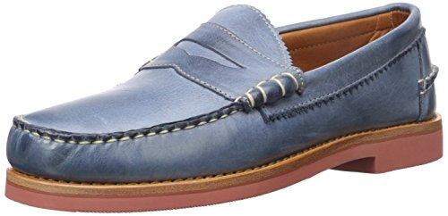 [Allen Edmonds Men's Sedona Penny Loafer, Navy Leather, 7 D US] (Dress Loafer Beef Roll)