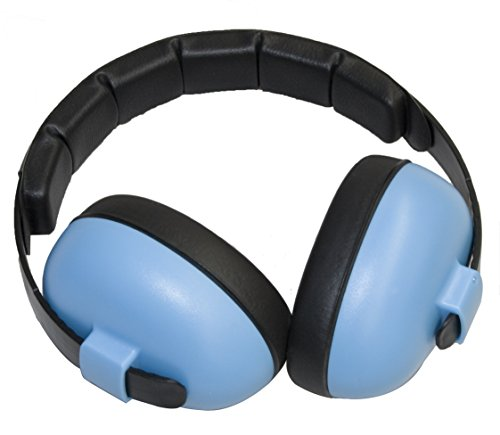 Headphones Palm Earphones - Baby Banz EMBB Hearing Protection, 0-2 Years, Blue