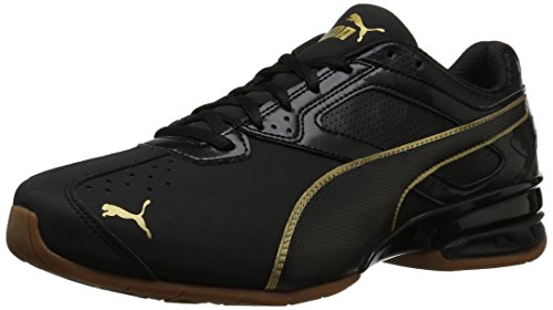 PUMA Women's Tazon 6 WN's FM Sneaker, Black Team Gold, 6.5 M US