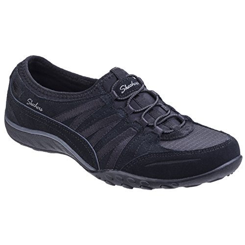 Skechers Womens/Ladies Relaxed Fit Moneybags Trainers (10 US) (Black) ()