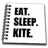 3dRose db_180416_3 Eat Sleep Kite Kitesurfing Kiteboarding Kite Surfer Kite Boarder Surf Mini Notepad, 4'' x 4''