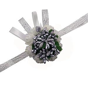 Arlai 1 pcs Wedding Bridal Corsage Bridesmaid Wrist Flower Corsage Flowers for Wedding, Prom, Party 20