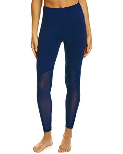 Marika Women's Olivia Vented High Rise Tummy Control Legging, Midnight Blue, Large
